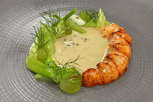 Grilled Lobster with Seaweed and Caviar Sauce