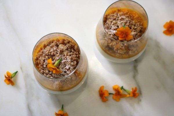 Exotic Panna Cotta with Coconut Crumble